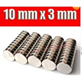 Big Bargain 50 X Disc Neo Neodymium Rare Earth Strong N42 Magnets 10 mm x 3 mm Craft Models