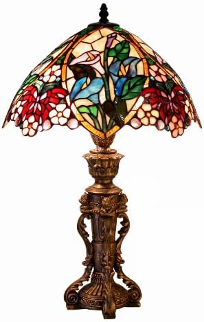 Warehouse of Tiffany 2848 BB818 Tiffany-Style Floral Design Table Lamp
