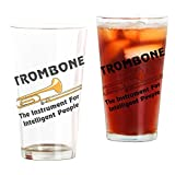 CafePress - Trombone Genius - Pint Glass, 16 oz. Drinking Glass