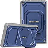 Fintie Shockproof Case for All-New Amazon Fire HD 8 (7th and 8th Generation Tablets, 2017 and 2018 Releases) - [Tuatara Magic Ring] [360 Rotating] Multi-Functional Grip Stand Carry Cover, Navy