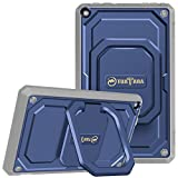 kindle fire protection case - Fintie Shockproof Case for All-New Amazon Fire HD 8 (7th and 8th Generation Tablets, 2017 and 2018 Releases) - [Tuatara Magic Ring] [360 Rotating] Multi-Functional Grip Stand Carry Cover, Navy