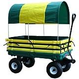 Millside Industries Canopy Plastic Wagon, Green/Yellow