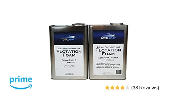 TotalBoat Liquid Urethane Foam Kit 6 Lb Density, Closed Cell for Flotation  & Reinforcement (2 Gallon Kit)