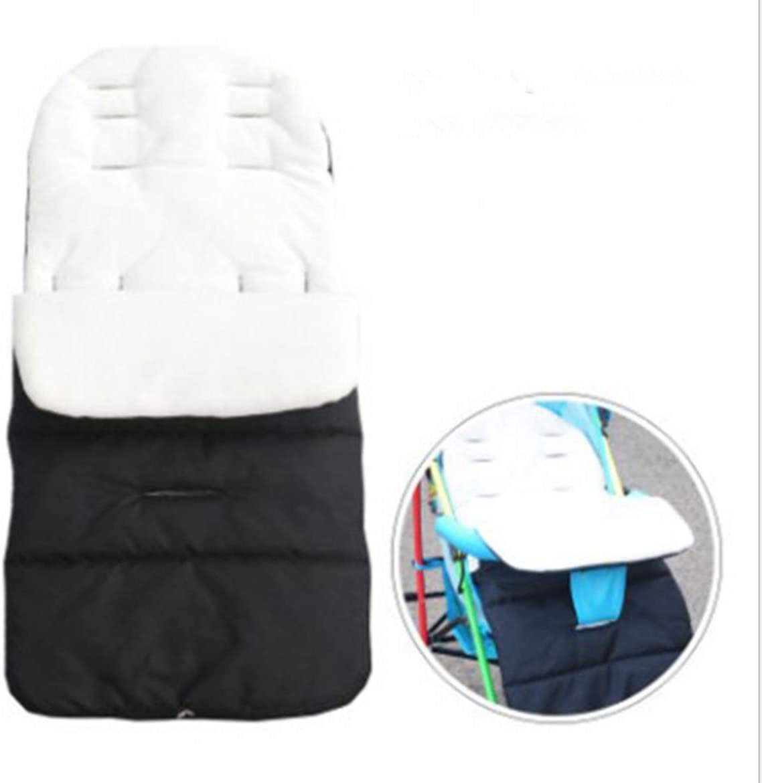 saco de dormir para beb/é color blanco y negro Marbeine Saco de dormir universal mate para cochecito
