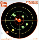 "75 pack - 8"" Reactive Splatter Targets - GlowShot - Multi Color - See Your Hits Instantly - Gun and Rifle Targets - Search GlowShot for all our 6"", 8"" and 10"" Targets"