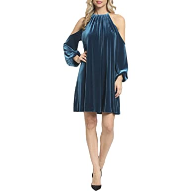 095456a2611 Belle Badgley Mischka Womens Valentina Cold Shoulder Knee-Length Cocktail  Dress at Amazon Women s Clothing store
