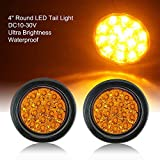 TOPPOWER 4'' Round LED Tail Lights Truck/Trailer