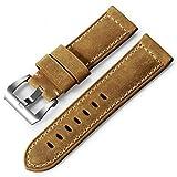 iStrap 24mm Assolutamente Calf Leather Padded Watch Band for Panerai Radiomir Luminor 1950 Or Luminor