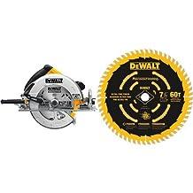DEWALT DWE575SB 7-1/4-Inch Lightweight Circular Saw with Electric Brake & DEWALT DW3196 7-1/4-Inch 60T Precision Finishing Saw Blade