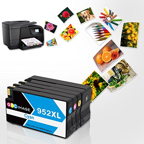 GPC Image Remanufactured Ink Cartridge Replacement for 952XL 952 XL High Yield for OfficeJet Pro 8710 8720 7720 8740 8210 8216 7740 8730 8715 Printer 4 Pack (1 Black, 1 Cyan, 1 Magenta, 1 Yellow) Photo #4