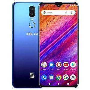 "BLU G9 – 6.3"" HD Infinity Display Smartphone, 64GB+4GB RAM -Blue (Renewed)"