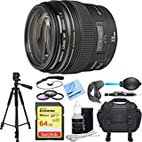Canon EF 100mm F/2.0 USM Lens Deluxe Accessory Bundle includes includes Lens, 64GB Extreme SD Memory Card, Tripod, 58mm Filter Kit, Lens Hood, Bag, Cleaning Kit, Beach Camera Cloth and More