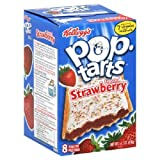 Kellogg's Pop-Tarts Frosted Strawberry Toaster Pastries 8 ct (Pack of 12)