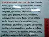 100 Maverick Postcards: Pictures, Images & Thoughts for Each Conceivable Occasion