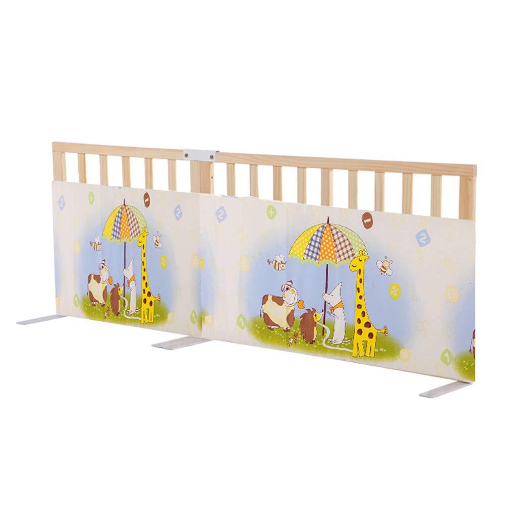 ベッドフェンス- 幼児のための木製のベッドガード、折りたたみ可能なベビーベッドレールキングサイズベッド、75センチメートルのための保護フェンスを下にスイング (サイズ さいず : 180cm) 180cm  B07JLW4CLR