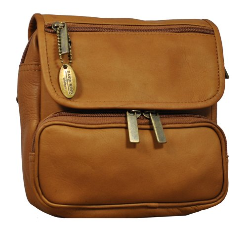 9a29df7264e3 David King & Co. Large Double Pocket Waist Pack, Tan, One Size