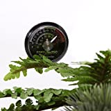 REPTI ZOO Reptile Terrarium Thermometer,Dial Gauges
