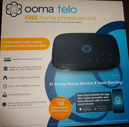 Ooma Telo Free Home Phone Service PureVoice HD Sound Quality