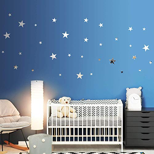 32 Pieces Removable Star Mirror Stickers Acrylic Mirror Setting Wall Sticker Decal for Home Living Room Bedroom Decor… 1