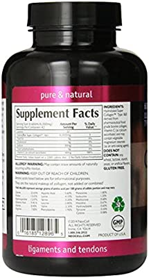 Neocell Super Collagen+C Type 1 and 3, 6000mg plus Vitamin C, 250 Count , Pack of 4