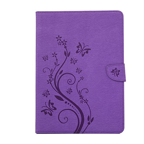 iPad 1 Folio Functional iPad Wallet Protective Marble 1 Business Multi Stand Smart Premium Stand 3 Case Leather 2 PU Case Lightweight 2 Mini 3 Cover Butterfly purple Leather TOCASO Slim Case Ca Mini for Tablet Leather Ywfqfp8