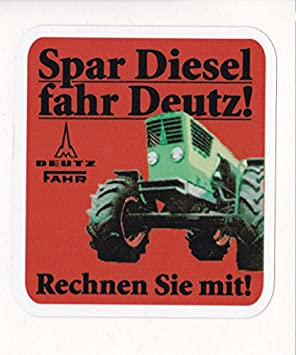 Spar Diesel Fahr Deutz Aufkleber Logo Emblem Sticker Label