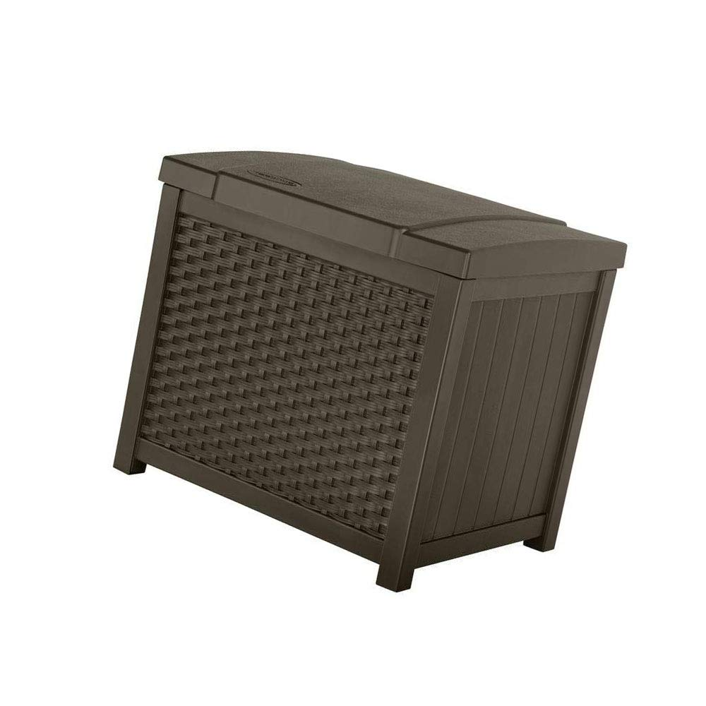 jnwd Resin Storage Bench Cabinet 22 Gallon Waterproof Storage Container Box Durable Seat Coffee Table for Indoor Outdoor Garden Backyard Utility Room Furniture Weather Resistance & e-Book by jnwd