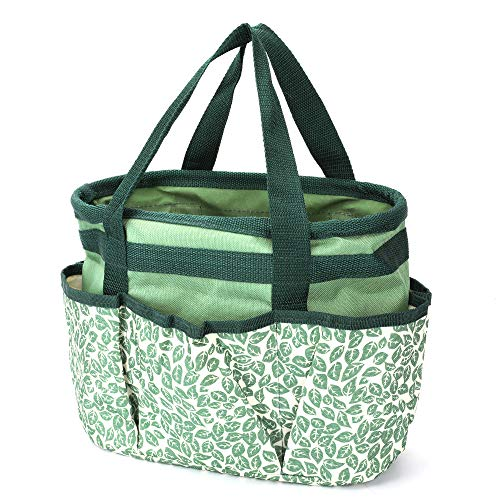 Homes Garden Tote Garden Tool Bag with Pockets 10 in. x 19 in. x 14 in. Polyester Gardening Gift #G-6004-US