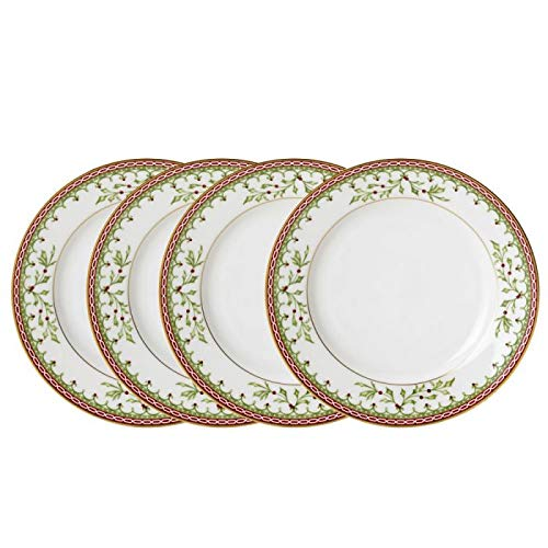 - Mikasa Holiday Traditions Set of 4 Bread and Butter Plates