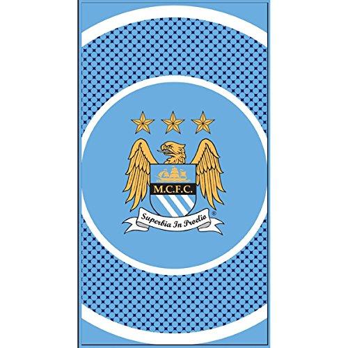 Manchester City F.C マンチェスターシティ 2014-15モデル ブルズアイ タオル 140cm*70cm / バスタオル スポーツタオル B00L8UZKS8