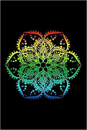 Journal: Rainbow Lotus Flower Mandala Yoga Hippie Tattoo ...