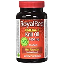 Webber Naturals Royalred omega-3 krill oil 1000 mg, 30 Count
