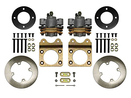 SuperATV Front Disc Brake Conversion Kit for Honda Foreman 400/450 4x4 (All Years) - DBK-H-001