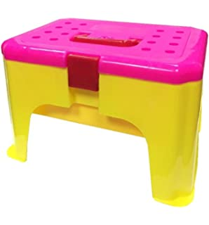 Kids Plastic Magic Motion Moving Sand Toy Storage Container Box Stool Chair  Seat (Pink Seat