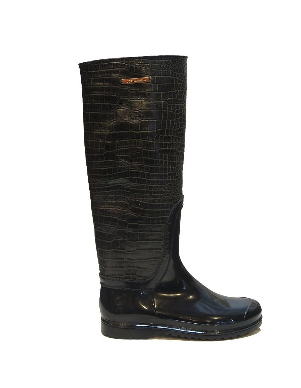 DOLCE & GABBANA Gold Rain Boots 8