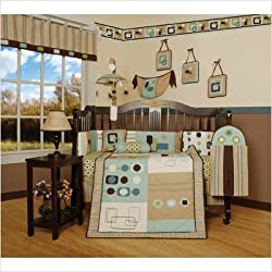 GEENNY Baby Boy/ Unisex Artist 13PCS CRIB BEDDING SET