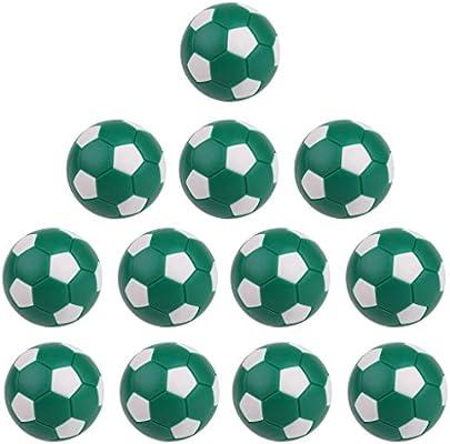 12 Pedazos Bolas de Futbolín Diseño Tradicional de Patrón de Balompié Accesorio de Fútbol de Mesa - Verde: Amazon.es: Juguetes y juegos