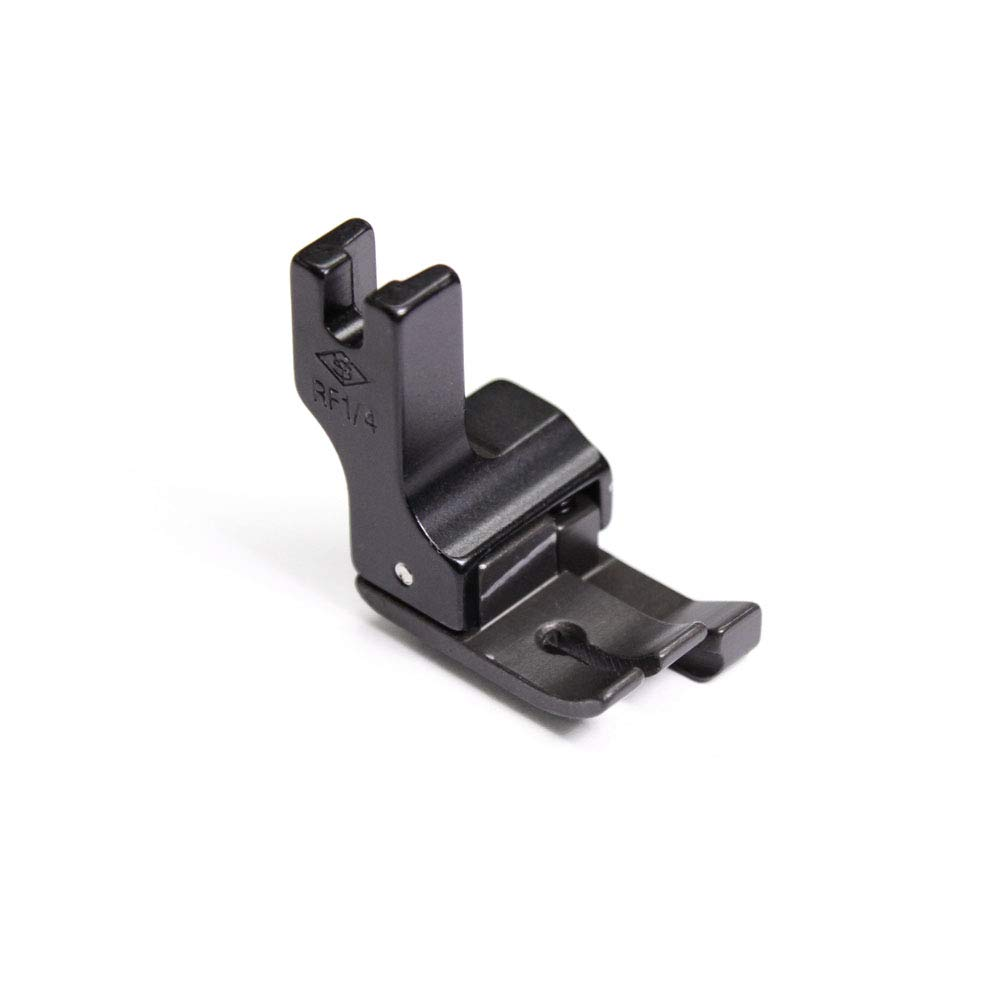 """Hinged Industrial Sewing Machine Feet for 1/4"""" Top-Stitching, Teflon Finish, Right Side"""
