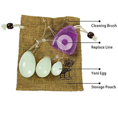The Jade Egg Y-o-n-i Eggs Set Of 3 Women Pelvic Floor Kegel Exercise With Storage Pouch