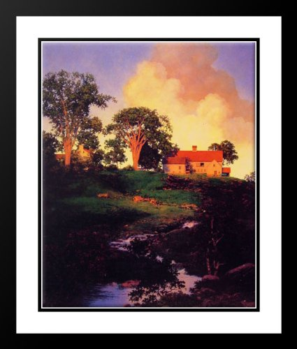 Hunt Farm 20x23 Framed and Double Matted Art Print by Parrish, Maxfield