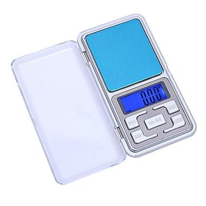 Dragonaur - Báscula electrónica portátil con pantalla LCD, báscula de pesaje para pendientes, anillos