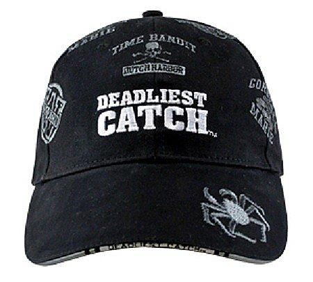 Alaska Black Boat Names Alaskan Deadliest Catch Crabs Ball Cap Hat - Discovery Viewer