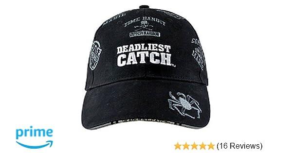 33a9c0b1280 Amazon.com  Alaska Black Boat Names Alaskan Deadliest Catch Crabs Ball Cap  Hat  Sports   Outdoors