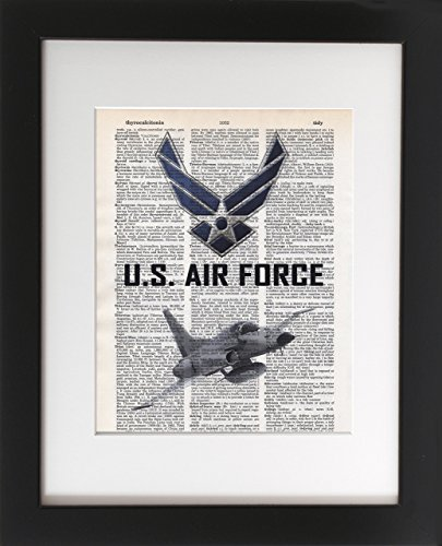 us-air-force-jet-upcycled-dictionary-military-wall-art-print-8x10-tribute-to-the-armed-services-unfr