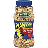 Planters Peanuts, Lightly Salted, Dry Roasted, 16-Ounce Jars (Pack of 12)
