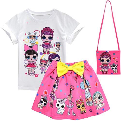 ALAMing Meisje Korte Mouw T-Shirt LOL Verrassing Pop Meisjes Kinderen Muziek Kleding