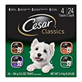 CESAR Canine Cuisine Poultry Variety Pack Dog Food Trays 3.5 Ounces (Pack of 24)