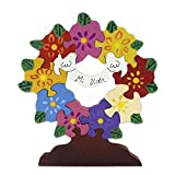 NOVICA Multicolor Animal Themed Wood Display Pigsaw Puzzle, 'My Life'