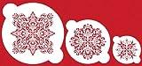 Designer Stencils C060 French Medallion Cake Stencil Set, Beige/semi-transparent