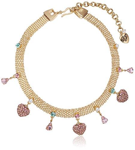 Betsey Johnson Marie Antoinette Mixed Multi-Charm Mesh Choker Necklace Marie Antoinette Necklace